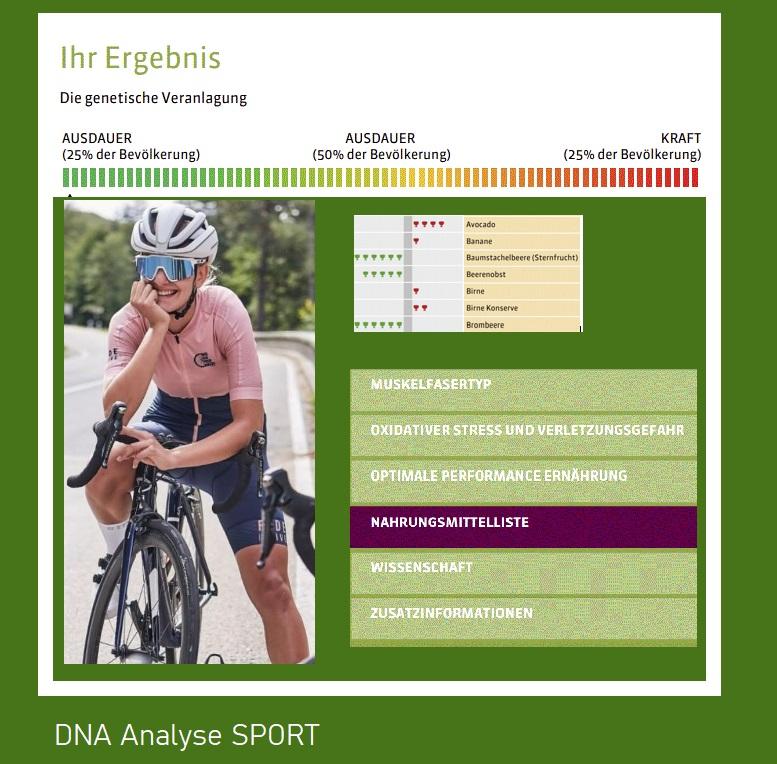 DNA Test für Leistungsssportler - Endurance, DNA Test Endurance, SoGsund