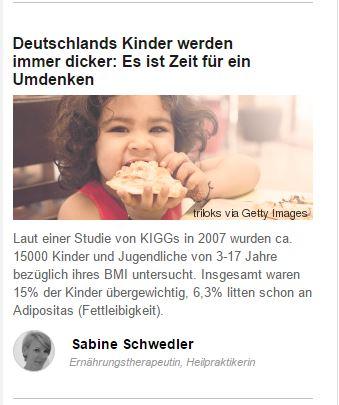 Deutsche Kinder werden dicker, Deutsche Kinder werden dicker, SoGsund